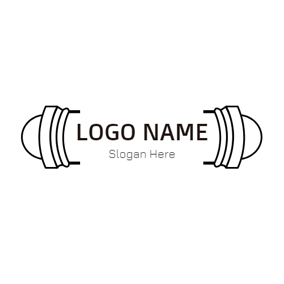 White and Black Signage logo design