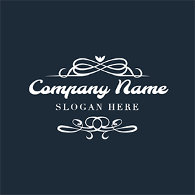 White and Blue Boutique logo design