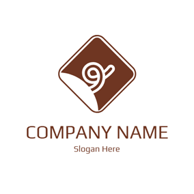 White and Brown Pig Tail logo design