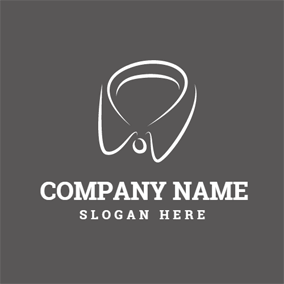 White and Gray Collar logo design
