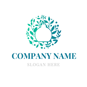 White and Green Perfume logo design