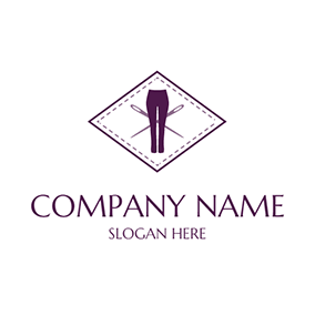 White and Purple Pants logo design