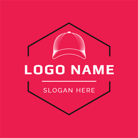 White and Red Cap logo design