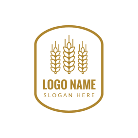 White and Yellow Wheat logo design