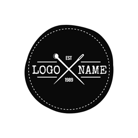 White Awl and Needle logo design