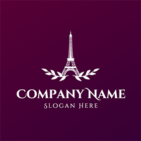 White Branch and Eiffel Tower logo design