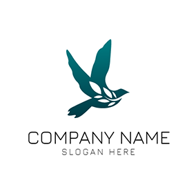 White Branch and Flying Dove logo design