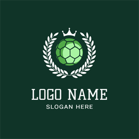White Branch and Green Handball logo design