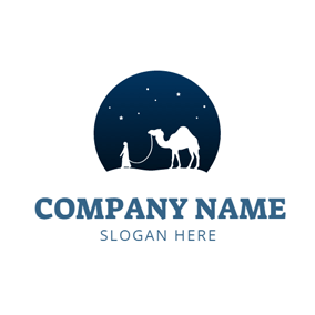 White Camel and Travel Agency logo design