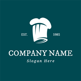 White Chef Cap logo design