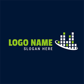 White Circle and Abstract Structure logo design