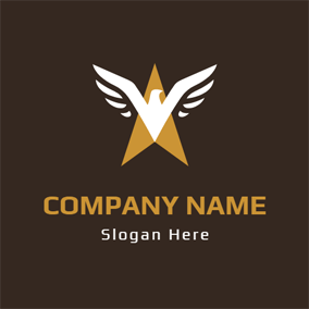 White Dove and Brown Triangle logo design