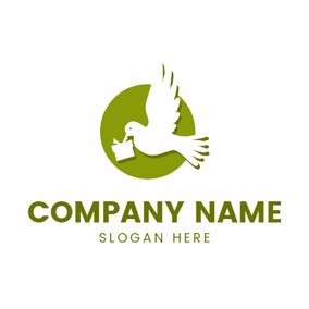 White Dove and Small Gift logo design