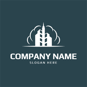 White Factory and Steam logo design