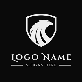 White Falcon Badge logo design