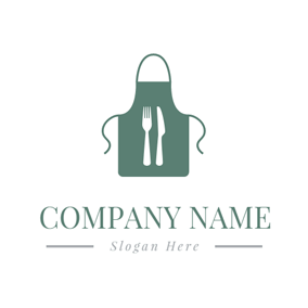 White Fork and Green Apron logo design