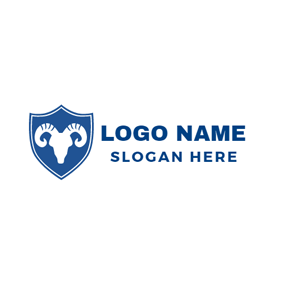White Goat Badge logo design