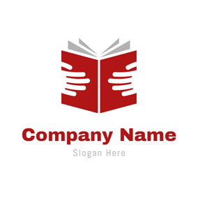 White Hand and Red Book logo design