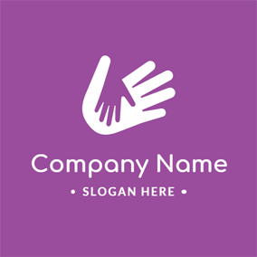 White Hand Print and Daycare logo design