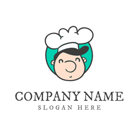 White Hat and Cartoon Chef logo design