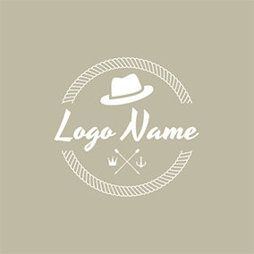 White Hat and Cross Arrow logo design