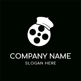 White Hat and Film logo design