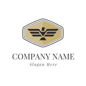 White Hexagon and Black Bird logo design