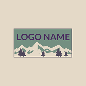 White Iceberg and Brown Tree logo design