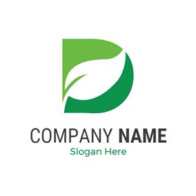 Free d logo designs designevo logo maker white leaf and green letter d logo design thecheapjerseys Images
