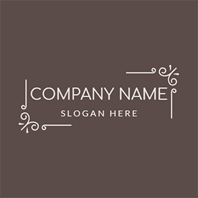 White Line and Decorate logo design