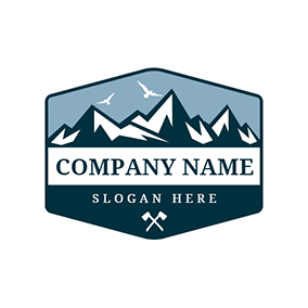 White Mountain and Blue Badge logo design