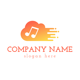 White Note and Abstract Cloud logo design
