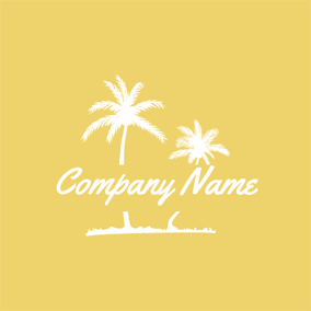White Palm Tree logo design