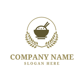 White Rice and Brown Paddy logo design