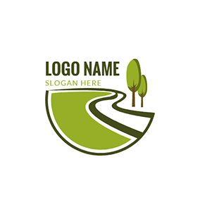 White River and Green Tree logo design