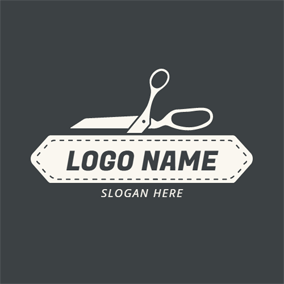 White Scissor and Craft logo design