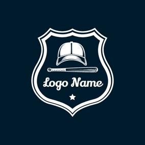 ... White Star and Baseball Cap logo design 7bdba8091ee