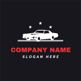 White Star and Car logo design