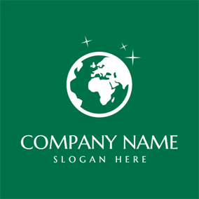 White Star and Green Earth logo design