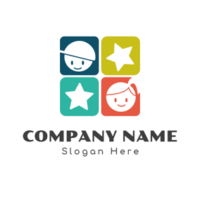 White Star and Lovely Kids logo design