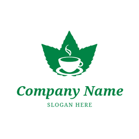 White Teacup and Mint logo design