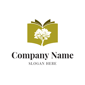 White Tree and Cyan Book logo design