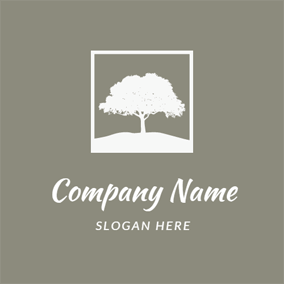 White Tree Photo Frame logo design