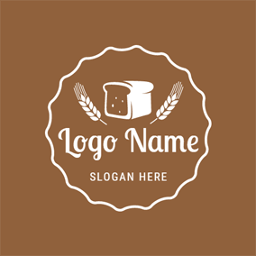 White Wheat and Bread logo design