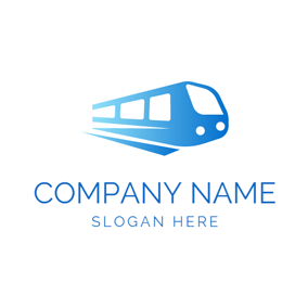 White Window and Blue Train logo design