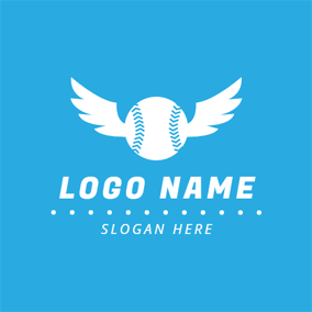 White Wing and Baseball logo design