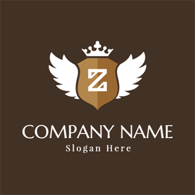 White Wing and Letter Z logo design