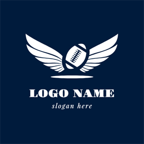 White Wing and Rugby logo design
