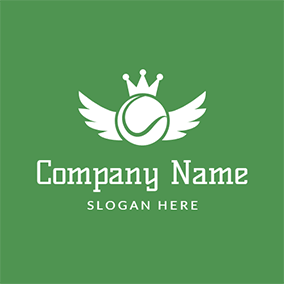 White Wing and Tennis Ball logo design