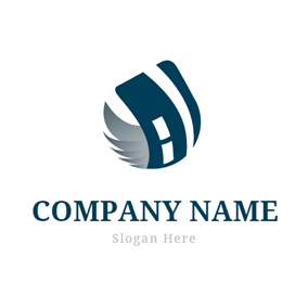 Wing and Credit Card logo design
